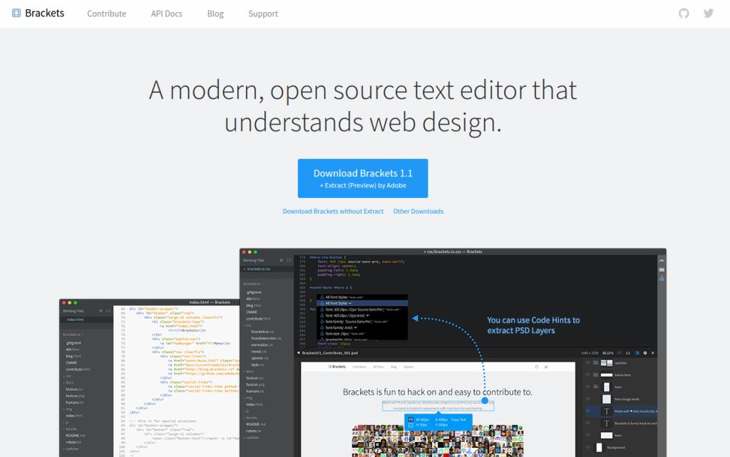 Brackets - A modern text editor that understands web design